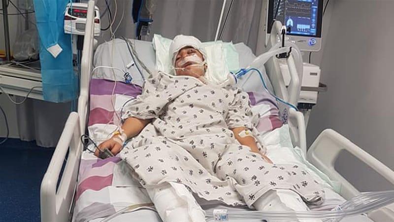 The wounded Palestinian boy underwent a six-hour procedure involving seven surgeons [Al Jazeera]