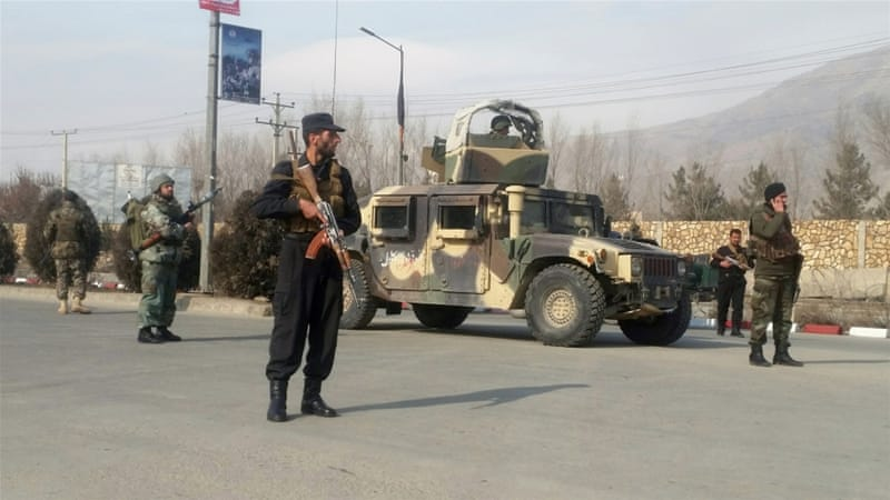 390d4ca54 Afghan security forces keep watch at the site of an attack in Kabul,  Afghanistan December