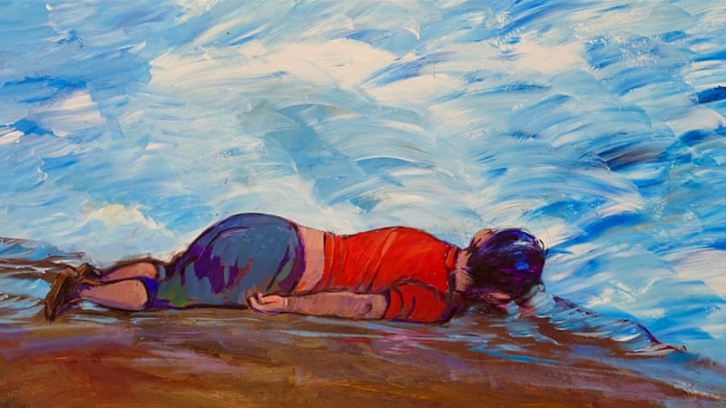 """Untitled (Alan Kurdi)"" [Courtesy of Muhammad Ansi/John Jay College]"