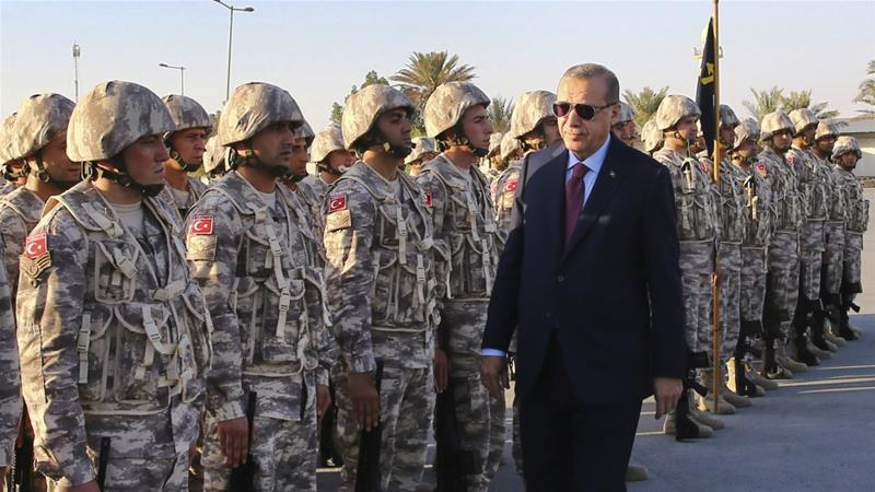 The Tariq bin Ziyad military base in southern Doha is Turkey's first such installation in the Middle East [File: AP]