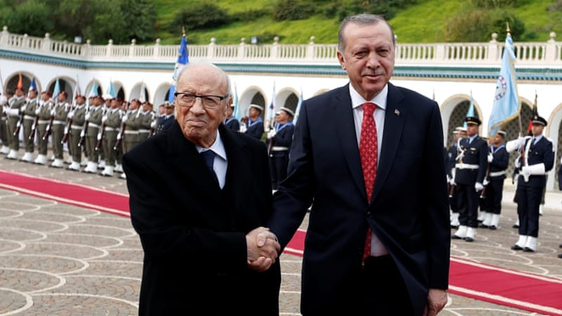 Erdogan signs defense, investment deals in Tunisia