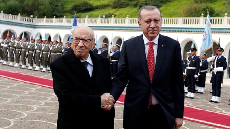 Erdogan signs defense, investment deals in Tunisia