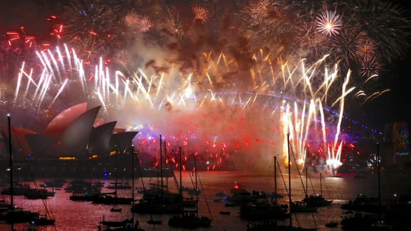 Countries in the southern hemisphere kicked off the New Year's celebrations [Reuters]