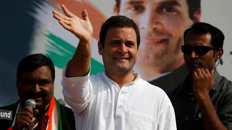 Rahul Gandhi took over the reins of the party in December from his mother, Sonia Gandhi [Amit Dave/Reuters]