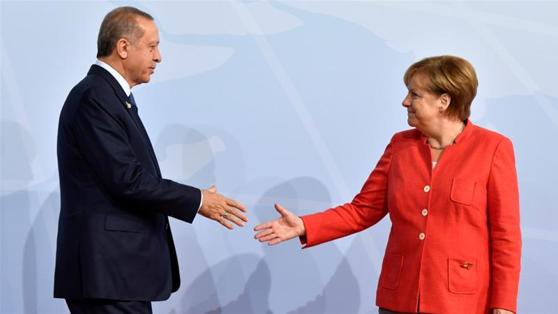 German Chancellor Angela Merkel and Turkey's President Recep Tayyip Erdogan have been at odds over various issues [File: Reuters]