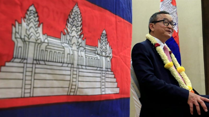 Cambodian opposition leader Sam Rainsy resigns class=