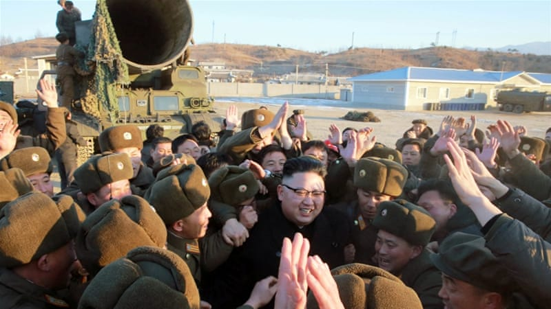 Kim 'personally guided' preparations for the launch of the surface-to-surface medium long-range Pukguksong-2 [Reuters]