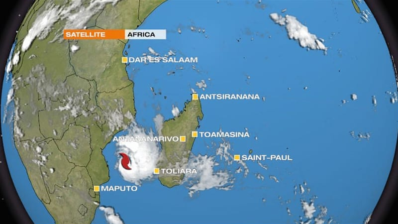 Tropical cyclone Dineo upgraded to cyclone status