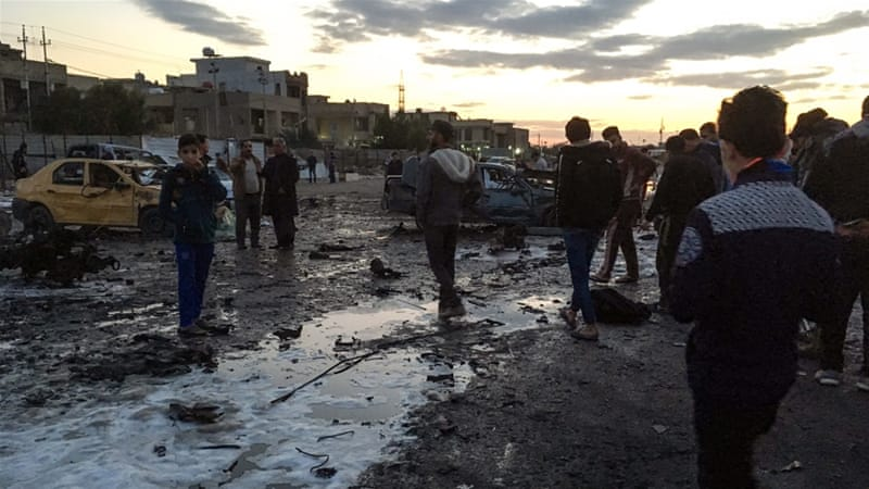 Thursday's blast in Baghdad was the latest in a series of suicide bombings [Ahmad Mousa/AFP]