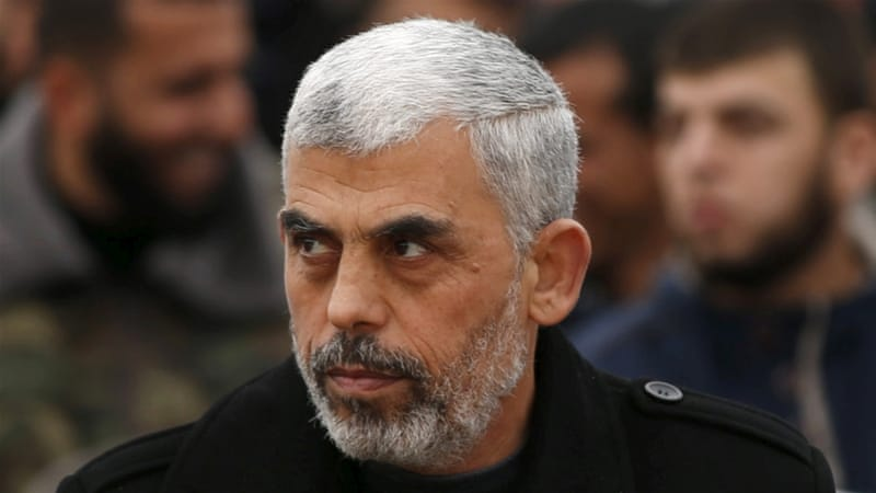 Sinwar, right, is set to replace Ismail Haniyeh as leader of Hamas in the Gaza Strip [Reuters]
