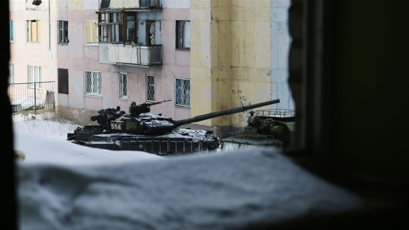 Kiev and Kremlin trade blame over surge in fighting in east Ukraine