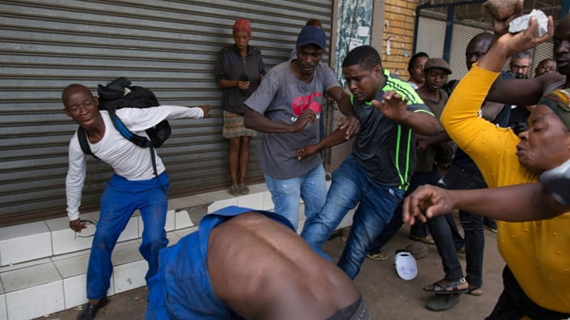 South Africa anti-foreigner protesters clash with police