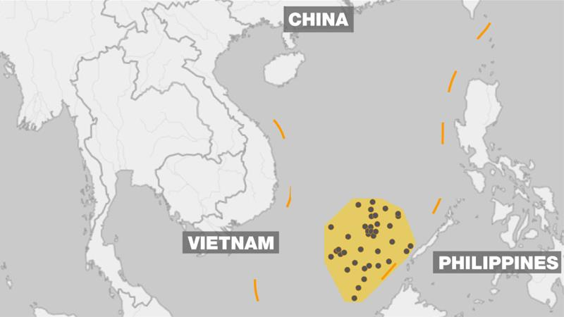 China, the Philippines, Brunei, Malaysia, Taiwan and Vietnam have all staked claims to various islands [Al Jazeera]