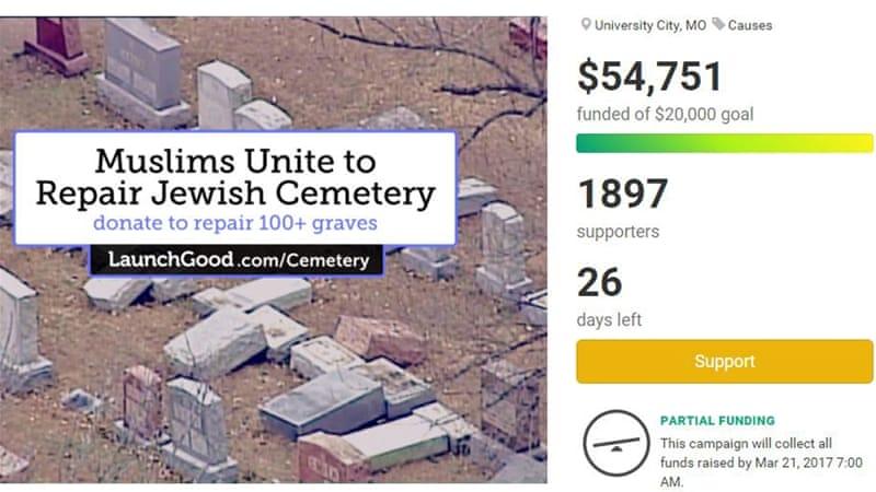 Muslims Raise $55,000 To Fix Vandalised Jewish Cemetery