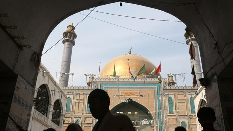 Devotees at Lal Shahbaz Qalandar's tomb after the deadly Sehwan blast[Reuters]