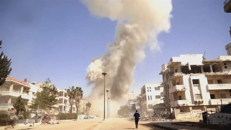 The government launched raids following Homs attacks [User Generated Content via Al Jazeera]