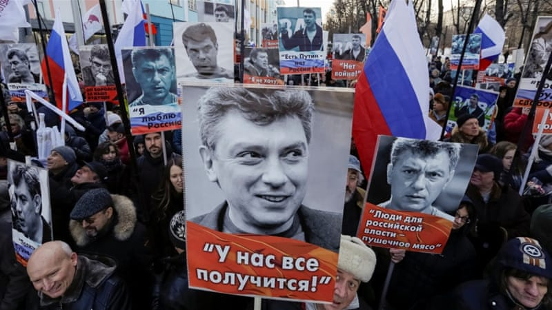 March To Remember Slain Kremlin Critic Boris Nemtsov