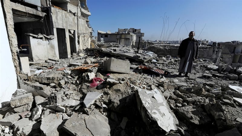 Rebels reportedly shelled Aleppo city, killing at least two people [Omar Sanadiki/Reuters]