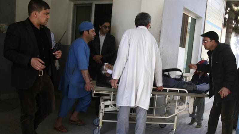The Afghan health ministry said the wounded, some of them in critical condition, had been rushed to hospitals [EPA]