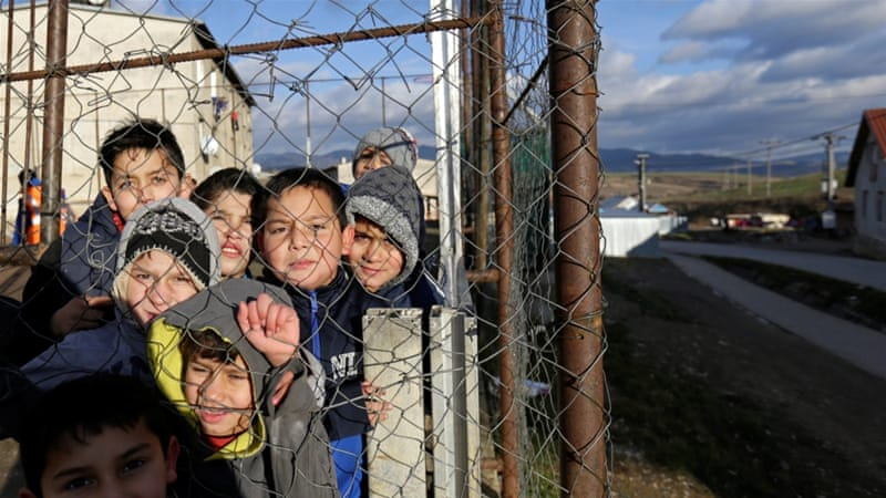 File: Roma children are discriminated at school from an early age, rights groups warn [David W Cerny/Reuters]