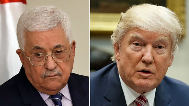 Trump to Palestinian leader: It's time for peace