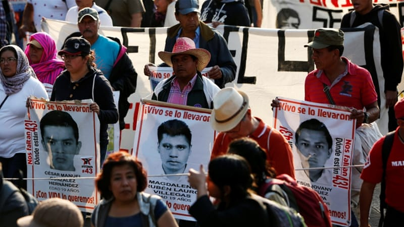 Demonstrators Called On Mexican Authorities To Hold Those Responsible For The Disappearances Account Carlos