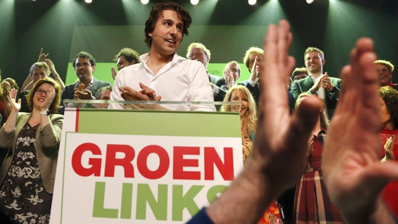 There could be a 'right-green' coalition, bringing in the election's biggest winner, the Green Party led by Jesse Klaver, writes Luyendijk [Reuters]