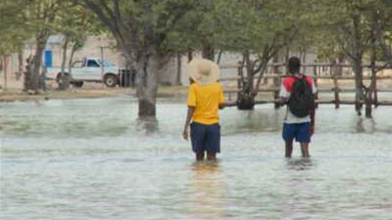 Heavy rains have brought flooding to northern Namibia [Al Jazeera]