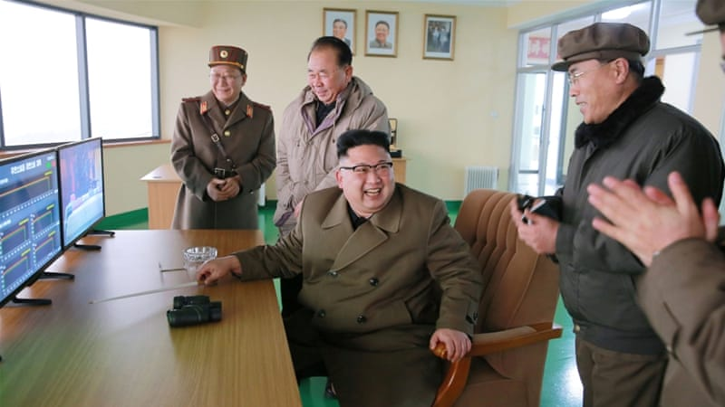 North Korea's state media said Kim oversaw the recent rocket test [Reuters]