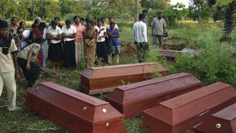 According to the UN, as many as 40,000 Tamil civilians may have died in the last few months of the fighting [AP: File]