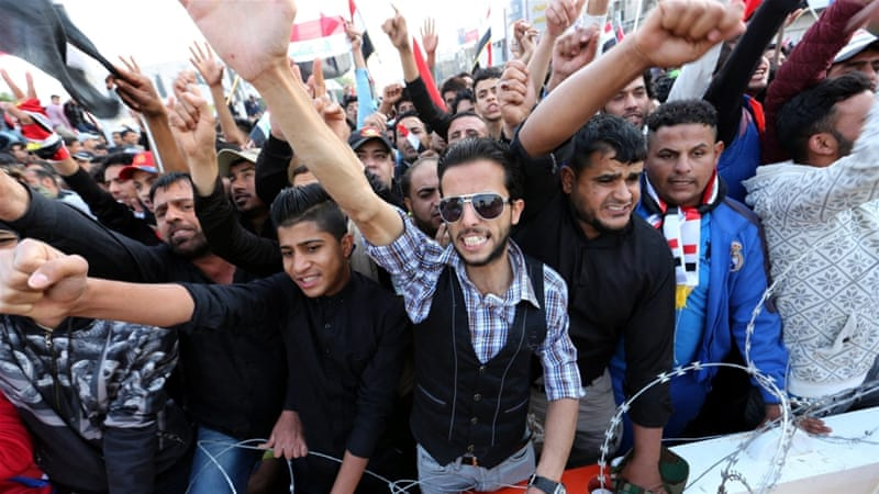 Thousands of people joined a protest in Iraq's capital, Baghdad [Reuters]