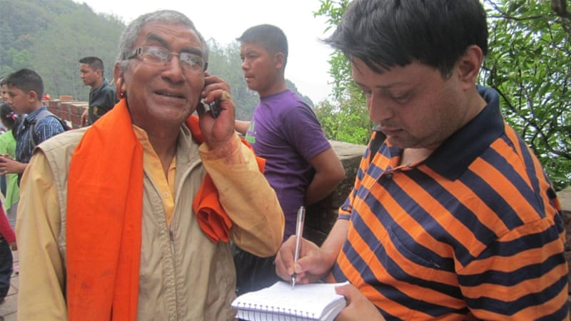 'A journalist is always answerable to his or her audience', writes Adhikari, pictured right [Deepak Adhikari]