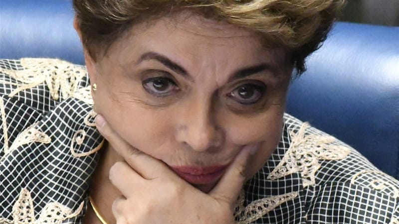 Rousseff was found guilty of undertaking fiscal manoeuvres, which had been put into effect by every and each civil president of Brazil before her, writes Lopes [Cadu Gomes/EPA]
