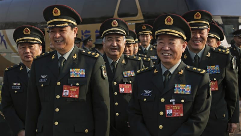 China continues trend of sinking defense budget growth