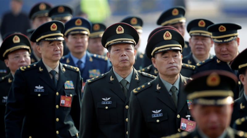 What does China's increased military spending mean?