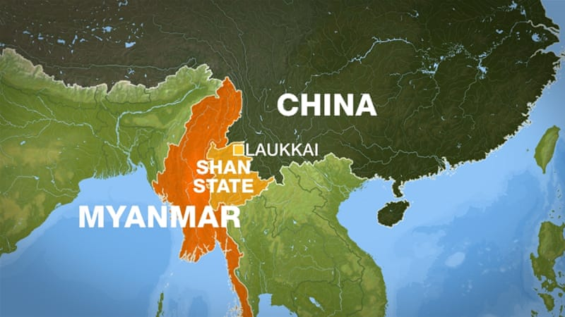 Thousands flee embattled Myanmar-China border