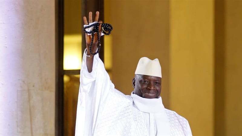The electorate in The Gambia voted out Jammeh (pictured) eight months after Sandeng's death [File: Reuters]