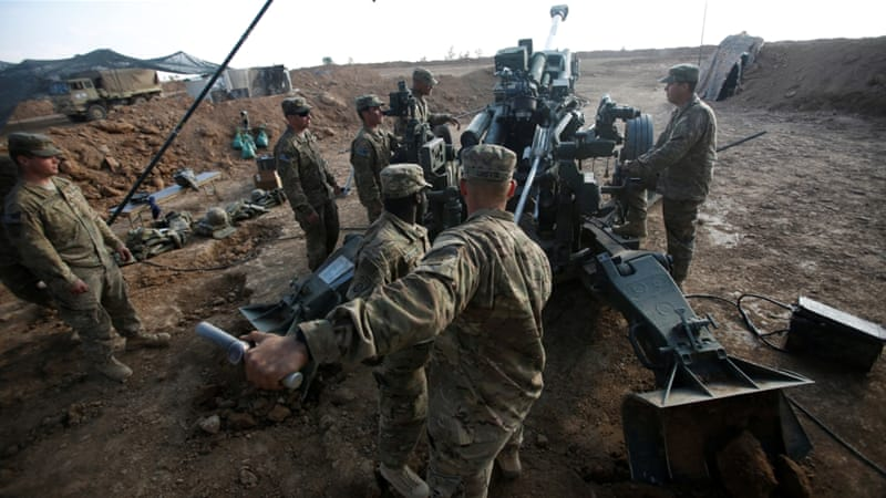 The Marines are pre-positioning heavy artillery to be ready to assist local Syrian forces [File: Reuters]