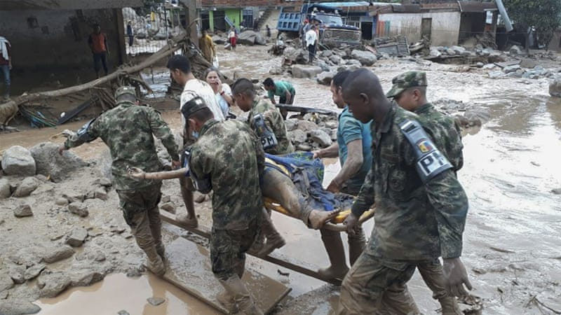 More than 250 killed and many injured in Mocoa landslide