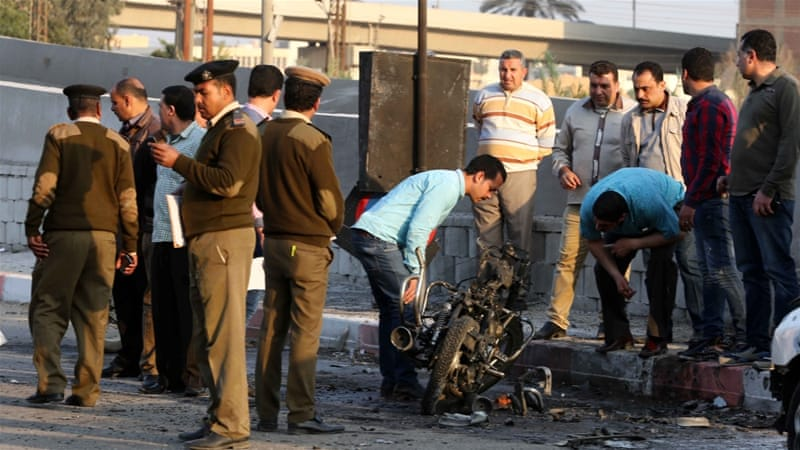 Bomb in Egypt Nile Delta city wounds 13 police, 3 civilians