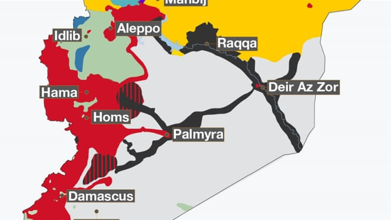 Syrian civil war map: Who controls what?