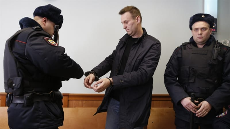 Navalny has been arrested numerous times for standing up to the Kremlin [EPA]