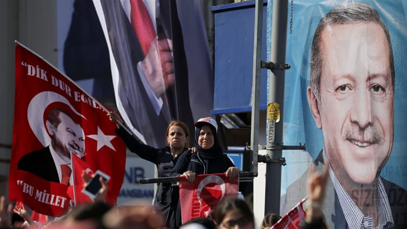 Turkish voters deciding on expanding presidential power