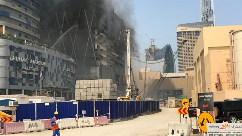 Fire Breaks Out At Under Construction Dubai Skyser