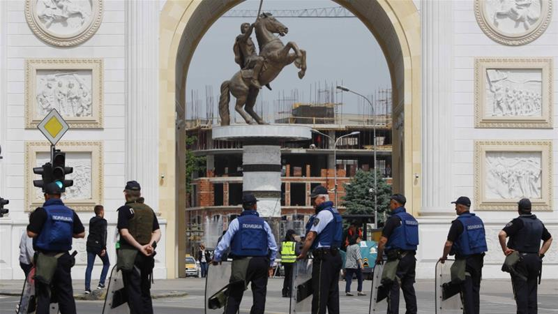 Relations soured between the two Balkan neighbours following protests in Skopje in April [Ognen Teofilovski/Reuters]