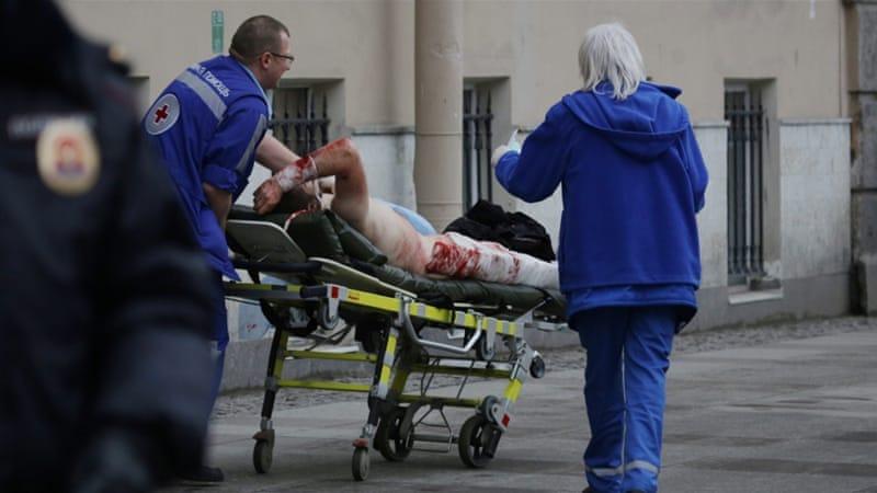 St. Petersburg metro blast kills ten