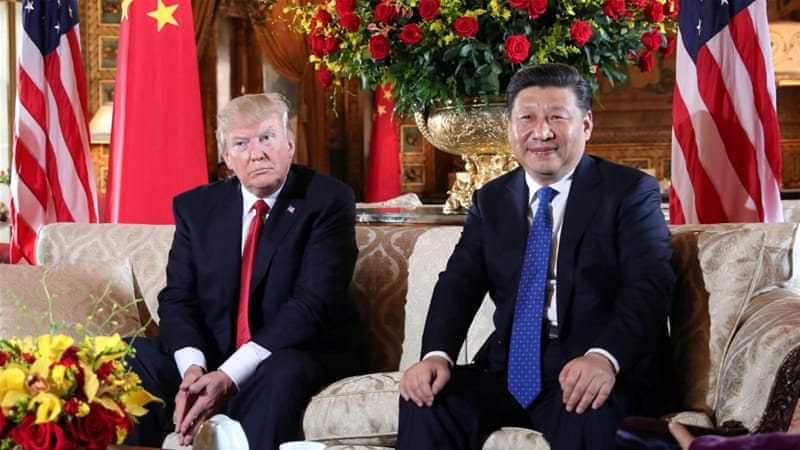 Image result for xi jinping, donald trump, Mar-a-Lago, al jazeera, photos