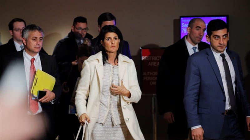 Haley: No Political Solution until Assad Is Out