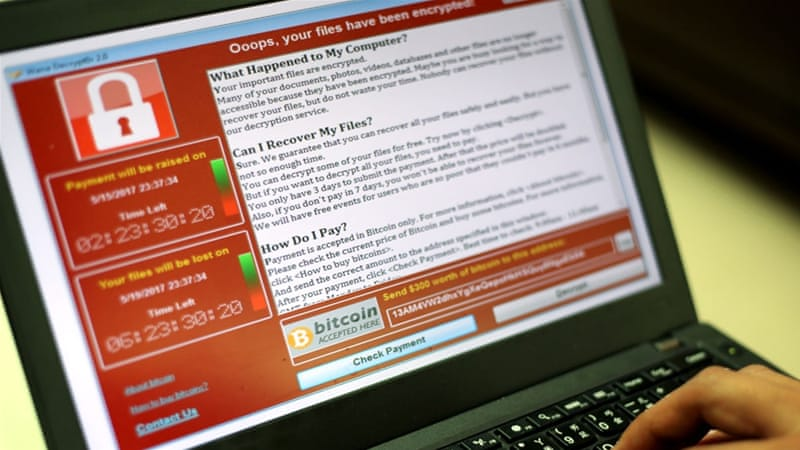 The WannaCry malware infected more than 300,000 computers in 150 countries [Ritchie Tongo/EPA]