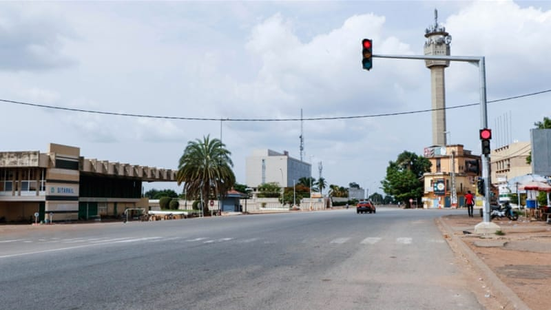 An empty street in Bouake, Ivory Coast's second-largest city, on Sunday [Reuters]